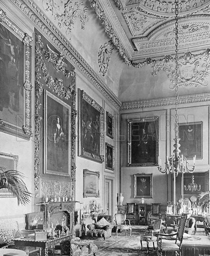 The Saloon. Photograph in In English Homes Vol 1 (Country Life, 1904).