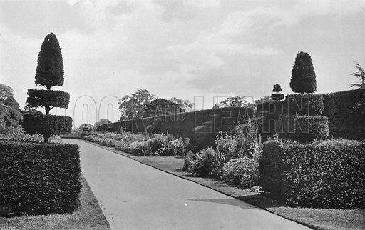 The South Side, Alcove Walk. Photograph in Gardens Old and New Vol III (Country Life, c 1910).