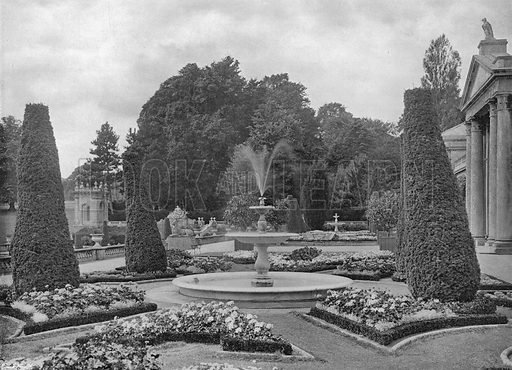 The Fountain. Photograph in Gardens Old and New Vol III (Country Life, c 1910).