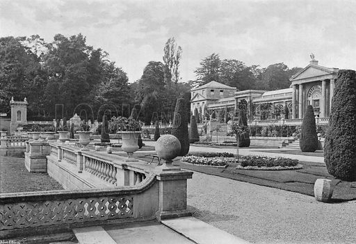The South Corner of the House. Photograph in Gardens Old and New Vol III (Country Life, c 1910).