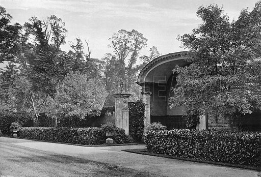 The Covered Seat. Photograph in Gardens Old and New Vol III (Country Life, c 1910).