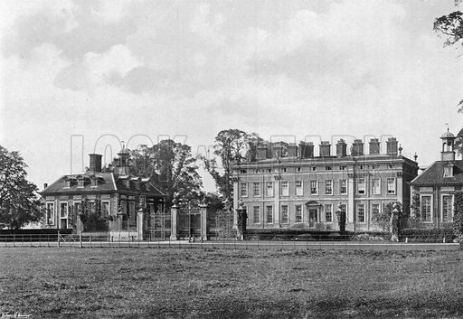East Front. Photograph in Gardens Old and New Vol III (Country Life, c 1910).