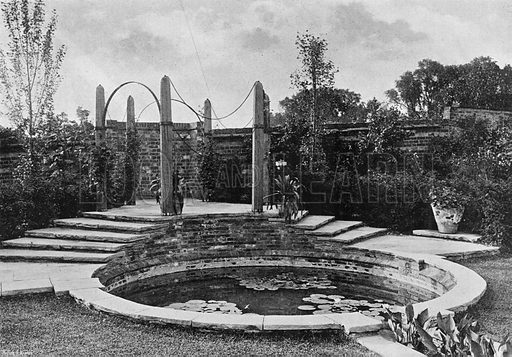 The End of the Water Garden. Photograph in Gardens Old and New Vol III (Country Life, c 1910).