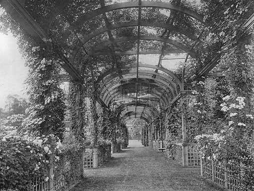 Under the North Pergola. Photograph in Gardens Old and New Vol III (Country Life, c 1910).