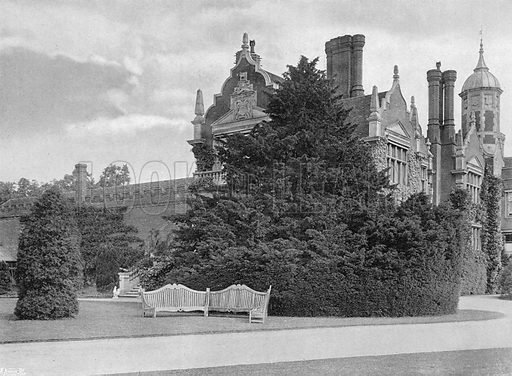 The West Wing. Photograph in Gardens Old and New Vol III (Country Life, c 1910).