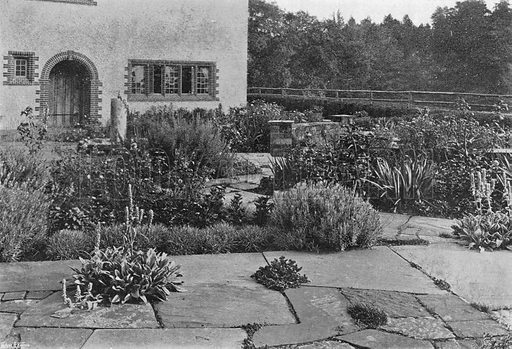 Flagstones. Photograph in Gardens Old and New Vol III (Country Life, c 1910).