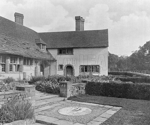 The Garden Court from the West. Photograph in Gardens Old and New Vol III (Country Life, c 1910).