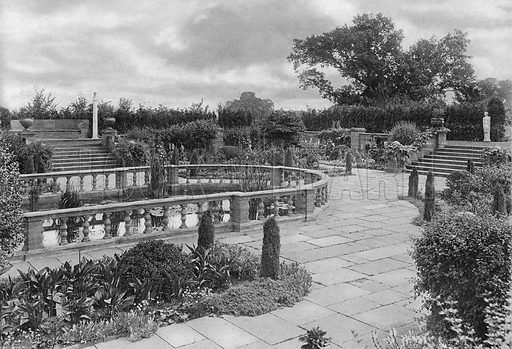 North End of Pond Garden. Photograph in Gardens Old and New Vol III (Country Life, c 1910).