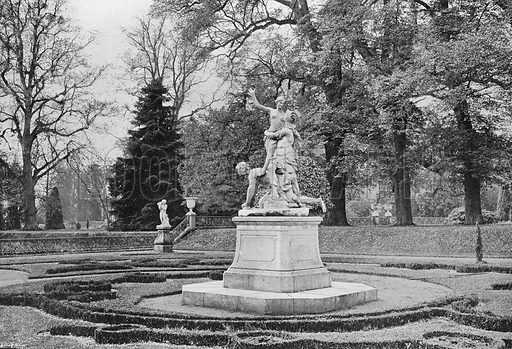 In the South Garden. Photograph in Gardens Old and New Vol III (Country Life, c 1910).