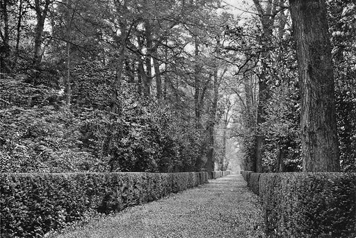 The Dog Walk. Photograph in Gardens Old and New Vol III (Country Life, c 1910).