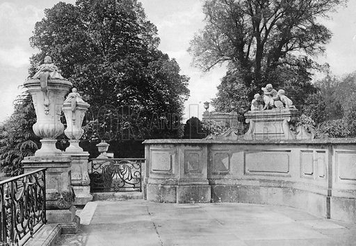 The West End of the South Terrace. Photograph in Gardens Old and New Vol III (Country Life, c 1910).
