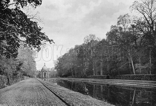 The Long Canal and Pavilion. Photograph in Gardens Old and New Vol III (Country Life, c 1910).