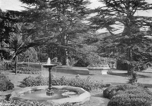 The Lawn and its Adornments. Photograph in Gardens Old and New Vol III (Country Life, c 1910).