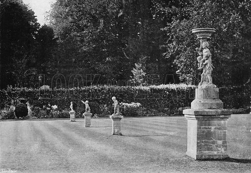 The Centre Lawn. Photograph in Gardens Old and New Vol III (Country Life, c 1910).