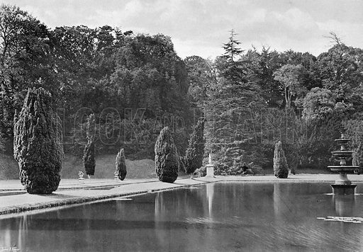 The Shadow of a Yew. Photograph in Gardens Old and New Vol III (Country Life, c 1910).