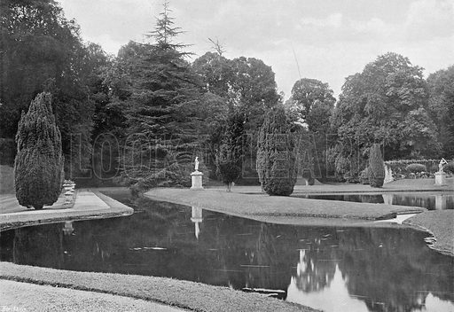 Water, Turf and Foliage. Photograph in Gardens Old and New Vol III (Country Life, c 1910).