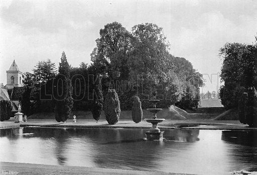 A Vista from the Lawn. Photograph in Gardens Old and New Vol III (Country Life, c 1910).