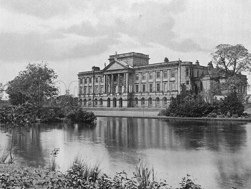Lyme Hall. Photograph in Gardens Old and New Vol III (Country Life, c 1910).