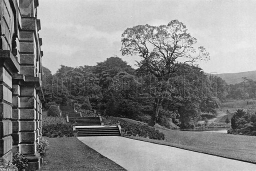The South Walk. Photograph in Gardens Old and New Vol III (Country Life, c 1910).