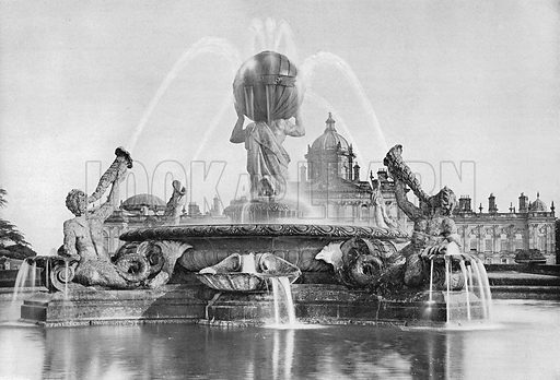 The Giants' Fountain. Photograph in Gardens Old and New Vol III (Country Life, c 1910).