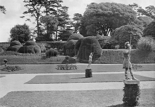 Across the Lawn. Photograph in Gardens Old and New Vol III (Country Life, c 1910).