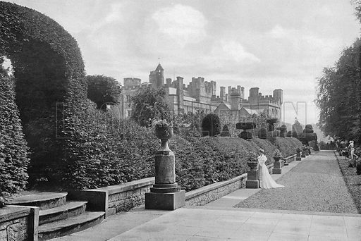 The Western Terrace. Photograph in Gardens Old and New Vol III (Country Life, c 1910).