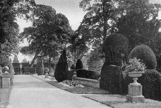 East End of the South Terrace. Photograph in Gardens Old and New Vol III (Country Life, c 1910).