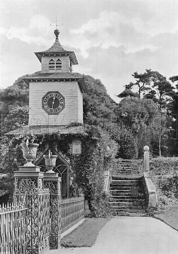 "The Dial Says: ""Every Hour Shortens Life."" Photograph in Gardens Old and New Vol III (Country Life, c 1910)."