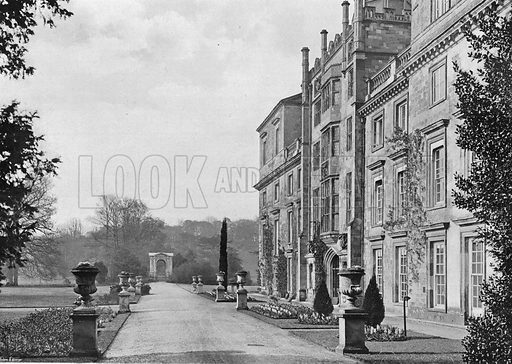 The East Front. Photograph in Gardens Old and New Vol III (Country Life, c 1910).