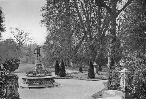 From the Steps of the Orangery. Photograph in Gardens Old and New Vol III (Country Life, c 1910).