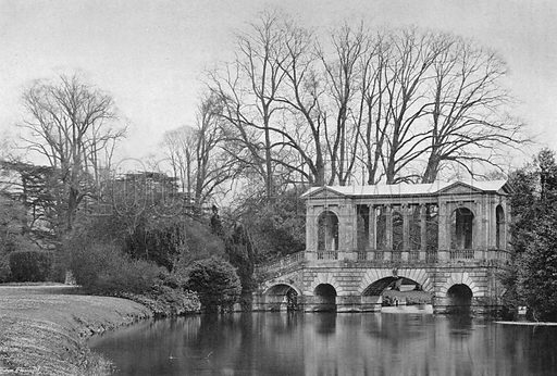 The Bridge in Spring-Time. Photograph in Gardens Old and New Vol III (Country Life, c 1910).