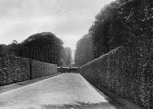 A Vista from the Broad Walk. Photograph in Gardens Old and New Vol III (Country Life, c 1910).