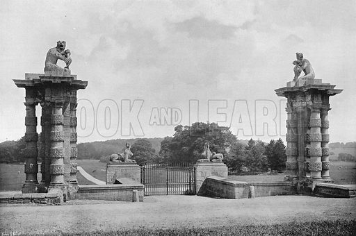 The Piers and the Park. Photograph in Gardens Old and New Vol III (Country Life, c 1910).