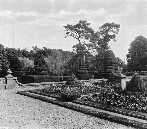 The East Wall. Photograph in Gardens Old and New Vol III (Country Life, c 1910).