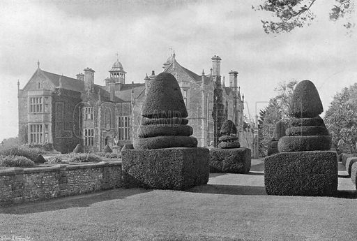 The Yew Lawn. Photograph in Gardens Old and New Vol III (Country Life, c 1910).