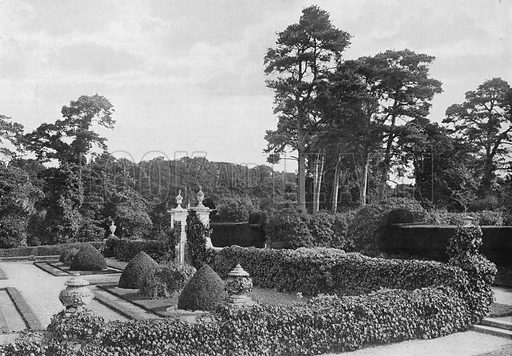 The South-East Angle. Photograph in Gardens Old and New Vol III (Country Life, c 1910).