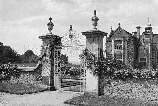 The Garden Gate. Photograph in Gardens Old and New Vol III (Country Life, c 1910).