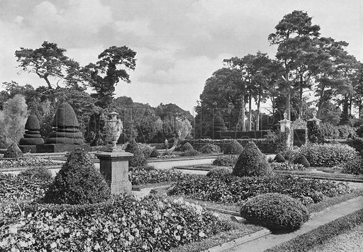 The East Side of the Garden. Photograph in Gardens Old and New Vol III (Country Life, c 1910).