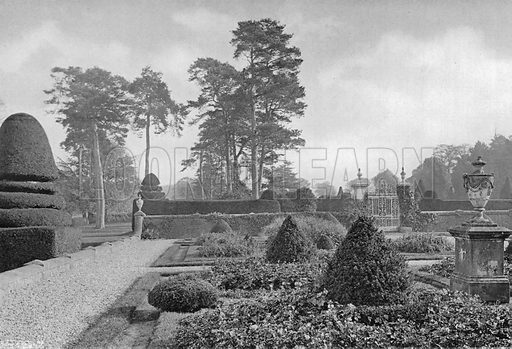East Flower Garden. Photograph in Gardens Old and New Vol III (Country Life, c 1910).