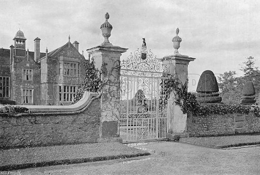 The Garden Entrance. Photograph in Gardens Old and New Vol III (Country Life, c 1910).