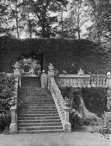 A Vista. Photograph in Gardens Old and New Vol III (Country Life, c 1910).