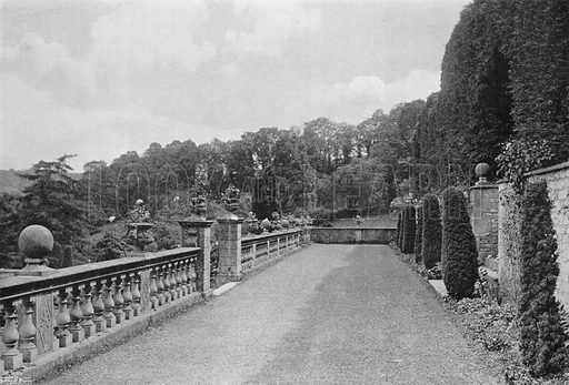 The Bowling-Green Terrace. Photograph in Gardens Old and New Vol III (Country Life, c 1910).