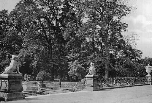 On the Terrace. Photograph in Gardens Old and New Vol III (Country Life, c 1910).