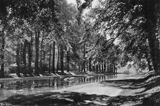 The T Pond. Photograph in Gardens Old and New Vol III (Country Life, c 1910).