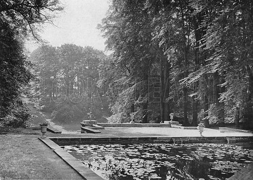 South Pond Terrace. Photograph in Gardens Old and New Vol III (Country Life, c 1910).