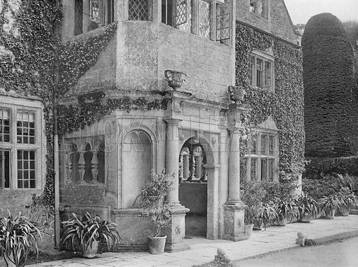 A Study of the Porch. Photograph in Gardens Old and New Vol III (Country Life, c 1910).