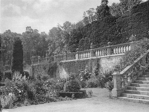One Half of Western Terrace. Photograph in Gardens Old and New Vol III (Country Life, c 1910).
