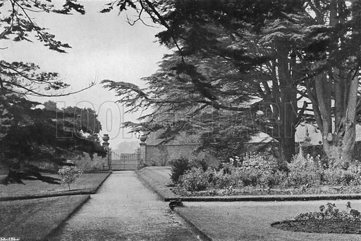 The Deer Park Gate. Photograph in Gardens Old and New Vol III (Country Life, c 1910).