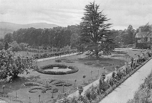 From the Fifth Terrace. Photograph in Gardens Old and New Vol III (Country Life, c 1910).