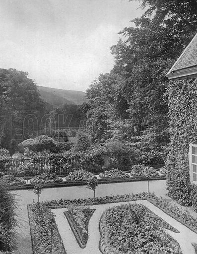 Recess Garden--From a Window. Photograph in Gardens Old and New Vol III (Country Life, c 1910).